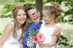 children having fun at their parents wedding in Niagara. creekside at The Little Log Wedding Chapel in Niagara