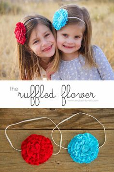 The Ruffled Flower.....for headbands, clothing, totes, etc.: an easy accessory that can make a difference.  www.makeit-loveit.com