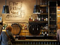 The Potting Shed. This bar does countryside green like no one else – with cleverly designed garden shed interiors. Lovely food, craft ale and inventive cocktails. More on http://bestbars.com/2014/05/28/the-potting-shed/