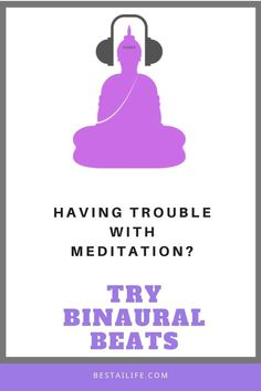 Do you have trouble getting your mind still or quiet when meditating? Have you tried binaural beats? By listening to binaural beats, we attempt to change our predominant brainwave. When we are relaxed or meditating, the alpha waves dominate Meditation For Anxiety, Free Meditation, Meditation Benefits, Meditation For Beginners, Mindfulness Meditation, Guided Meditation, Meditation Space, Home Yoga Practice, Meditation Exercises