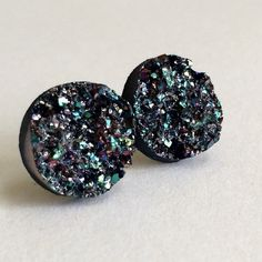 """3 for 15light teal gunmetal Druzy style studs PLEASE DO NOT BUY THIS LISTING.Please comment """"Bundle"""" under the items you'd like so I can make a listing.  Handmade by me Drusy style 1/2 inch 12mm earrings in silver tone lead& nickel free post. Silver backs. 3 pairs for $15. Minimum charge $15. Additional pairs $5. Price firm. Can mix/match any 3 for 15 items. Each piece varies slightly in shape. Chunky texture. Made of acrylic resin. Add to bundle won't calculate correct amount  Jewelry…"""