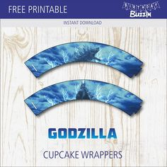 Print off and use these free printable Godzilla cupcake wrappers to make themed cupcakes for an epic Godzilla themed birthday party. Godzilla Party, Godzilla Birthday Party, 7th Birthday, Birthday Party Themes, Cupcake Wrappers, Cupcake Liners, Chocolate Chip Recipes, Chocolate Chips, Baking Party