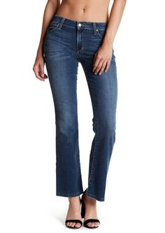 JOE'S JEANS The Provocateur Petite Fit Bootcut Denim Jeans Blue 25 $185 #348 #JoesJeans #BootCutFlareSlimSkinny