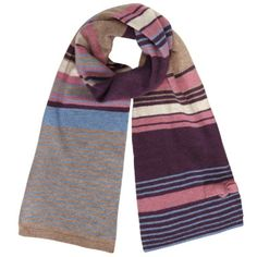 Alice Hannah AUT14 Winter Knit accessories -Multi Stripe with Tie Bow Scarf