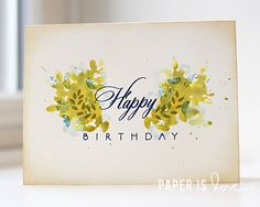Watercolor stamping technique using @papertreyink Embellished Elegance stamp set paper is love | A Craft Blog by Kalyn Kepner