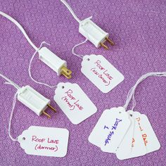 simply organized: Simple Solution: Organized Christmas Lights