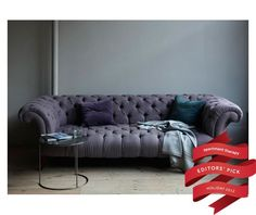 Enter for a Chance to Win: Chesterfield Sofa by Canvas (Value $3800.)