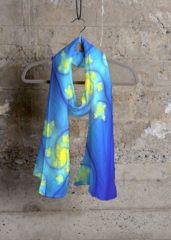 Cashmere Silk Scarf - Floating Hearts by VIDA VIDA LWvre