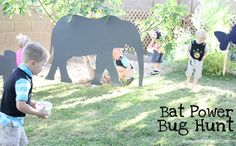 Wild Kratts Party . . . Bat bug hunt-plastic bugs and animal hunt. Kids get to keep as party favors