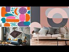 Wall Decor Design, Geometric Wall, Home Wall Art, Paint Designs, Home Decor, Decoration Home, Room Decor, Home Interior Design, Home Decoration
