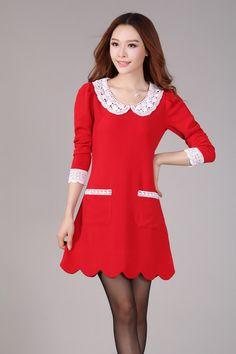 2013 Autumn Fashion Slim Plus Size Dress