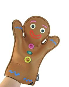 Gingerbread Man Oven Glove is a great gift for bakers and gingerbread lovers to keep his or her fingers from getting burned! Fun novelty oven gloves.