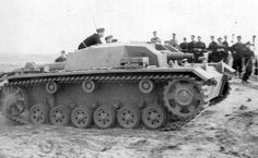 A StuG 3 during a live fire exercise