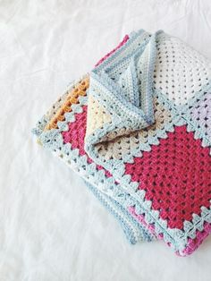 Crochet blanket - love the colors!