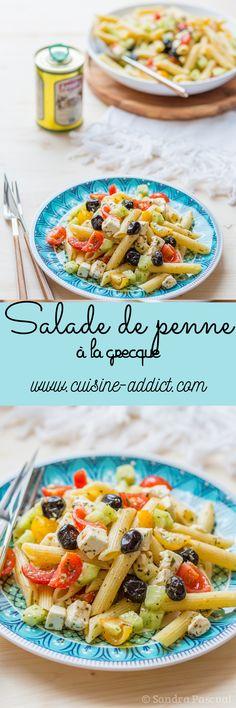 Salade de penne à la Grecque via @cuisineaddict