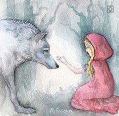 Biliana Savova   WATERCOLOR   Little Red Riding Hood