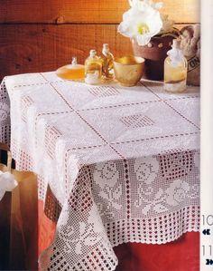 Inspirações de Croche com Any Lucy: Toalha de Mesa                                                                                                                                                     Mais