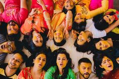 30 Best Haldi Ceremony Photos From Indian Weddings! Funny Wedding Poses, Indian Wedding Poses, Indian Wedding Couple Photography, Indian Weddings, Peach Weddings, Poses Pour Photoshoot, Pre Wedding Photoshoot, Wedding Shoot, Wedding Stage