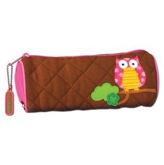 Owl Quilted Pencil Pouch