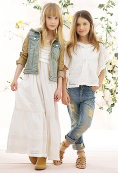 A charming variety of baby girl fashion attire presenting definitely attractive patterns and tints. Preteen Fashion, Elle Fashion, Cute Kids Fashion, Fashion Moda, Little Girl Fashion, Look Fashion, Junior Girls Clothing, Girls Clothing Brands, Cute Little Girls Outfits