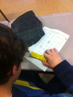 """Writing hieroglyphics on """"stone blocks"""" and building background knowledge for our ancient Egypt inquiry projects."""