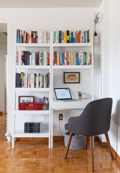 Shared work and home office space.