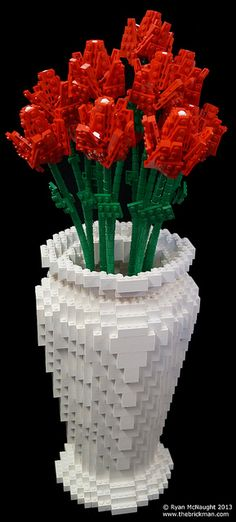 LEGO Vase and Flowers #LEGO #Flower