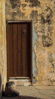 Door, Wooden, Wall, Old, Weathered