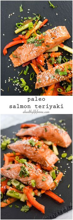 Paleo Salmon Teriyaki a delicious wholesome clean gluten free recipe that is ready in 20 minutes. - A Healthy Life For Me