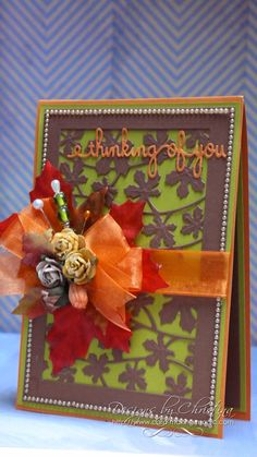 Autumn Colored thinking of you card by Christina Griffiths
