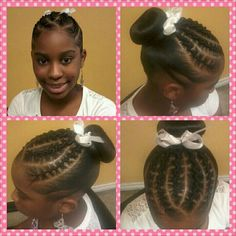 Rope twist with donut #hair #style #girl