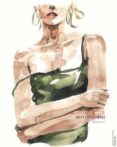 Watercolor Girl, Abstract Watercolor Art, Watercolor Fashion, Watercolor Portraits, Watercolor Illustration, Watercolor Paintings, Portrait Art, Figure Painting, Art Inspo