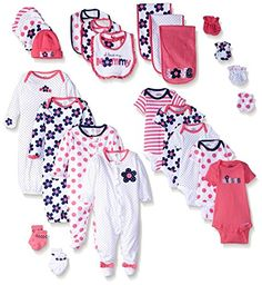 Gerber Baby 26 Piece Essentials Gift Set, Flower, New Bor… Twin Babies, Reborn Babies, Cute Babies, Gerber Baby, Carters Baby Clothes, Baby Kids Clothes, Baby Doll Nursery, Baby Dolls, Kids Fashion