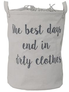 """""""The Best Days End In Dirty Clothes"""" Laundry Bag"""
