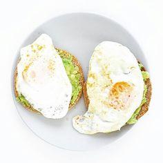 Eggs on toast  Avocado  Fried egg  Healthy breakfast