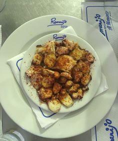 Pulpo a la gallega, restaurante El Romerijo, El Puerto de Santa Maria