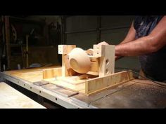 SIMPLE JIG! Turns a TableSaw into a Lathe! - YouTube