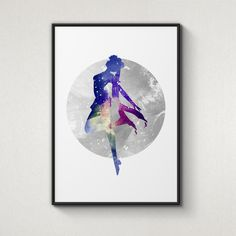 Usagi, Sailor Moon, Alternative Poster, Watercolor Painting, Archival Fine Art, Home Wall Decor, Giclee Print, by WatercolorPrintShop on Etsy