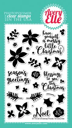 Avery Elle  - Christmas Florals Clear Stamps, $15.00 (http://www.averyelle.com/christmas-florals-clear-stamps/)
