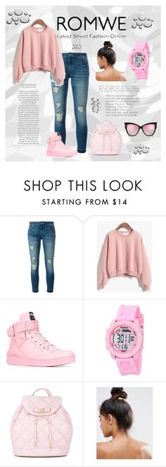 """""""<3"""" by tarik-azra ❤ liked on Polyvore featuring MICHAEL Michael Kors, Moschino, Salvatore Ferragamo and Kitsch"""