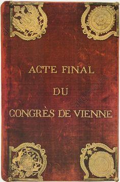 Vienna CoVIENNA CONGRESS / DOCUMENT COVERWiener Kongreß, Herbst 1814 – 9. Juni 1815.  Deckel der Schlußakte des Wiener Kongresses.ngress /