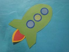 Space Craft rocket from shapes