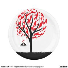 #RedHeart #Tree Paper Plates 7 Inch Paper Plate @whitewaves1
