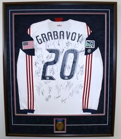 A fantastic example of a customframed sports jersey - what a great gift  idea - fun memories! fd4729b09