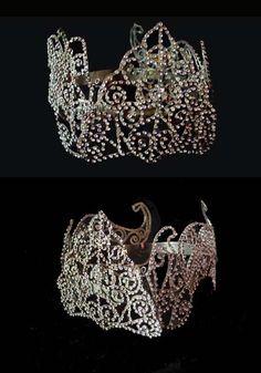 ANTIQUE BRIDAL CROWN/Diamante Sumatran Bridal by mistyalbion