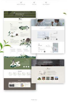 Osulloc web design on behance Website Layout, Web Layout, Book Layout, Layout Design, Printed Portfolio, Portfolio Web Design, Book Cover Design, Book Design, Web Design Color