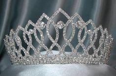 Rhinestone Bridal Queen Princess Miss Beauty Queen Crown Tiara - CrownDesigners