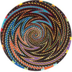 African Basket - Zulu Wire - Shallow Bowl #42721