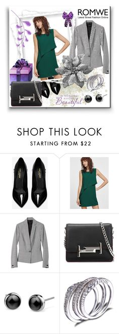 """""""Romwe""""Contest"""" by bamra ❤ liked on Polyvore featuring Yves Saint Laurent, Banana Republic and Tod's"""