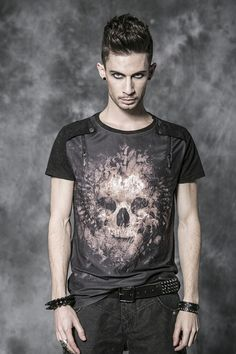 "T-shirt Gothique Punk Rave ""Hellraiser"""